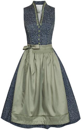 Luxe Dirndl Cetina Blauw-Groen (65cm)