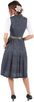 Dirndl Cetina Blauw-Groen Luxe (65cm) (model achterkant)