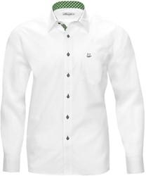 Tiroler Trachten Slimfit Overhemd (Witte-Groene blokjes)