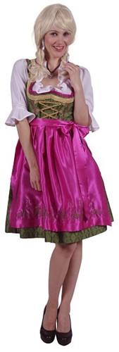 Luxe Dirndl Franziska (Pink-Groen)