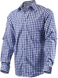 Luxe Donkerblauw Tiroler Overhemd (katoen en polyester)