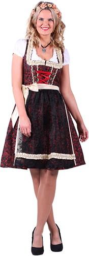 Dirndljurk Christa Rood-Zwart Luxe 2-delig