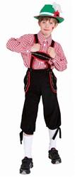 Zwarte Tiroler Broek voor jongens