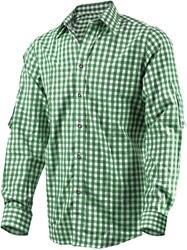 Luxe Donkergroen Tiroler Overhemd (katoen en polyester)
