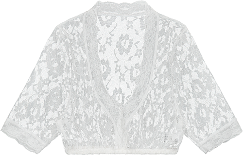Dirndlblouse Kant Luxe Wit
