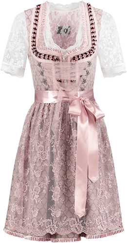Dirndl Luxe Oudroze-Taupe 60cm  2dlg.