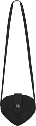 Luxe Dirndl Tasje Hartje Zwart
