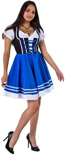 Zwart-Blauw Tiroler Dirndl 50cm 2dlg. (100% Katoen)