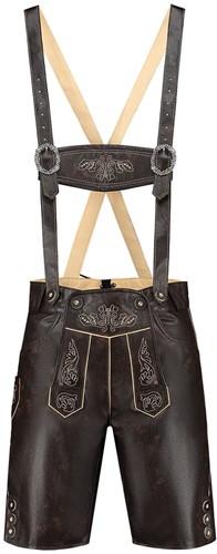 Tiroler Lederhose Kort Vintage Bruin (nepleer)